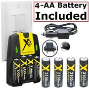 4aa Battery + 110/220v Charger For Canon Powershot A650 A630 A640 A620 A550
