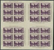 770 Block Of 4 Panes 24 Stamps 1935 3c Parks Farley Issue-no Gum As Issued