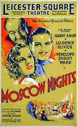 Moscow Nights 1935 Laurence Olivier Harry Baur Uk 12x20 Poster