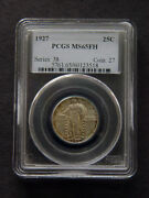 1927 Pcgs Ms65fh 25 Cents Series 38 Coin 27