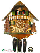 Black Forest Cuckoo Clock 8-day Farm House And Deer New