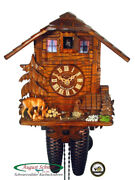 Black Forest Cuckoo Clock 8-day Swiss Chalet And Deer New
