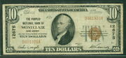 10.00 National Bank Note Peoples Nb Montclair New Jersey 1929 Fr. 1801-1 Vf