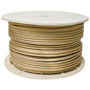 3/4 Inch X 600 Ft Gold And White Double Braid Nylon Rope Spool For Boats