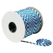3/8 Inch X 500 Ft White And Blue Solid Braid Mfp Rope Spool For Boats