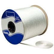 3/8 Inch X 500 Ft White Solid Braid Nylon Rope Spool For Boats
