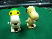 Peanuts Snoopy Wind Up Vintage Toys  Two Pieces For One Bid  No Reserve