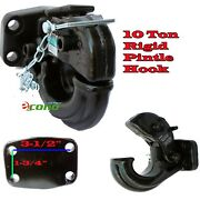 Rigid Mount Pintle Hook Type 10 Ton 20000 Lbs Towing Truck Trailer Hitch Tow