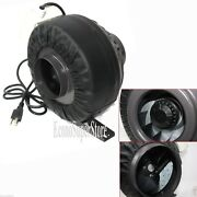 8 Inline Duct 200w 770cfm Hydroponic Exhaust Fan Ventilation Blower Air Cool