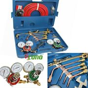 Oxygen And Acetylene Welding Cutting Outfit Torch Set Gas Welder Kit W/15ft Hoses