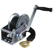 Zinc Plated 1200 Lbs Maximum Load Boat Trailer Winch - 2 Inch X 25 Ft Strap