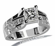 1.70ct Genuine Princess Cut Diamond Engagement Ring In 14k White Gold Pd3099g