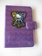 Sanrio Hello Kitty Organizer Groovy Purple Butterfly Collectible 1976, 2001 New