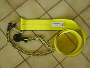 Winch Tie Down Strap 4x30ft W/36 Chain Grab For Axle, Towing, Flatbed, Clevis