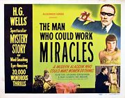 Man Who Could Work Miracles 1936 Roland Young Joan Gardner H.g. Wells Lobby Set