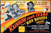 Rainbow Over Texas 1946 Roy Rogers George Gabby Hayes Dale Evans Trade Ad