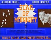 Star Of Midnight 1936 Ginger Rogers William Powell Trade Advert