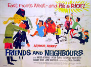 Friends And Neighbours 1959 Arthur Askey Danny Ross Uk Quad Poster