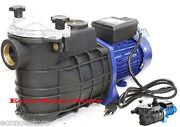 1-1/2 1.5 Hp Swimming Pool Pump Electric Spa Water Pumps 58gpm W/strainer