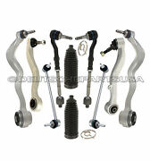 Control Arms Ball Joint Joints Steering Tie Rod Rods Rack Boot Kit For Bmw E60