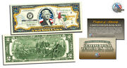 United States Air Force 2 Colorized Legal Tender U.s.a 2 Dollar Gift Bill-