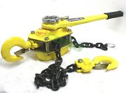 New 6 Ton 5 Ft Ratcheting Lever Block Chain Hoist Come Along Puller Pulley