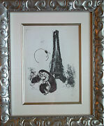 Marc Chagall - Mother And Child At Eifel Tower M.94 1954 - Original Lithograph