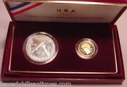 1988 Us Mint Olympic Proof Coins Gold And Silver
