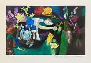 Pablo Picasso Night Fishing At Antibes Estate Signed And Numbered Small Giclee