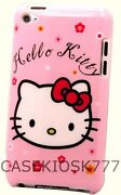 For Ipod Touch 4th 4 Th 4g Itouch Hard Back Case Hello Kitty Hot Pink Red White