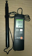 Testo 425 Thermal Anemometer With Probe Incl. Telescopic Handle / Working