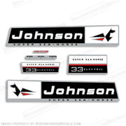 Johnson 1966 33hp Outboard Decal Kit - Discontinued Decal Reproductions In Stock
