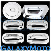 Chevy Avalanche Chrome 4 Door Handle+no Passenger Keyhole+tailgate+gas Cover