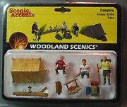 Woodland Scenics Figures O Scale A2754 Campers Train People Wds2754 New