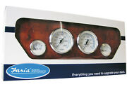 New Faria Boat 4 Gauge Set Chesapeake Ss White Instruments Outboard Far Ktf002