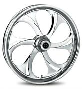 Rc Components Recoil Chrome 21 Wheels Package Set Tires Harley Flh/flt 2008