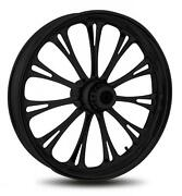 Rc Components Imperial Black 18 Wheels Package Set Tires Harley Flh/flt 09-13