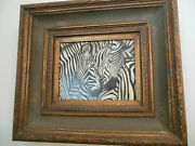 Gorgeous Zebras Museum Quality Masters Style Reproduction Oil Painting 8x10