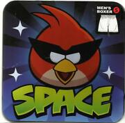 Rovio Briefly Stated Angry Birds Space Menand039s Boxer W/gift Tin Size S Brand New
