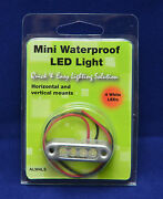 10ea Alw4ls 12v 4 Led Amber Pod Step Accent Lighting Waterproof Ip67 Stainless