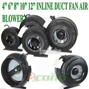 4 6 8 10 12 Inline Exhaust Duct Fan Air Cooling Blower Hydroponic