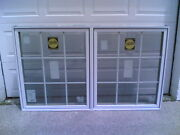 New Others Nice Pella Home Wood Double Casement Window W/ Grids 70 W X 42 H
