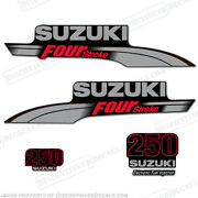 Suzuki 250hp Fourstroke Outboard Engine Decal Kit Df250 Replacement Decals