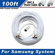 100 Ft Security Camera Cable For Samsung Sde-3004n And Other Security System