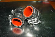 Yamaha Banshee Rubber Exhaust Pipe Clamps All Years Fmfdg Factory Black/red