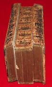 Bible C 1747 Rare French Leather Bind Bya.amsterdam As Is With The Case