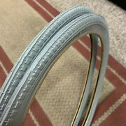 Bicycle Tires Fit Schwinn Fastback Sting-ray And English Bikes Light Grey