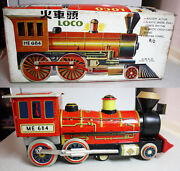 Amazing Vintage 60's Me 684 Loco Tin Train Battery Litho China Working New Nos