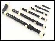 Pro. Six Twin Colorblack And Ivory Recorder Set + Six Bags