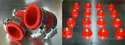 Yamaha Banshee Exhaust Clamps And Lug Nuts Fmfdg Red All Years